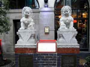Fu Dogs taken in London China Town