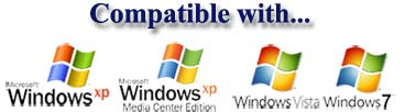 compatible with windows xp media center edition vista and windows 7